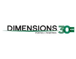 Logo Dimensions - Vitrerie Suprême (Porte et fenêtre à l'Assomption)